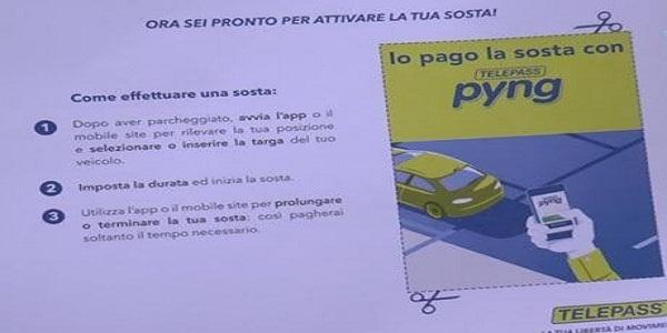 Napoli: Telepass Pyng, da oggi la sosta si paga col cellulare