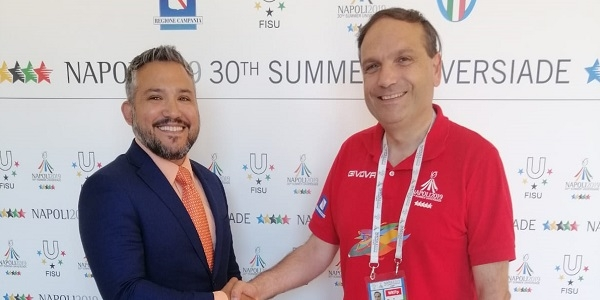 UNIVERSIADE: IL CONSOLE USA IN VISITA AL QUARTIER GENERALE DI NAPOLI 2019