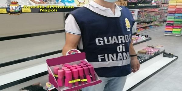 Napoli e Prov.: la GdF sequestra 3,3 milioni di prodotti falsificati e non sicuri