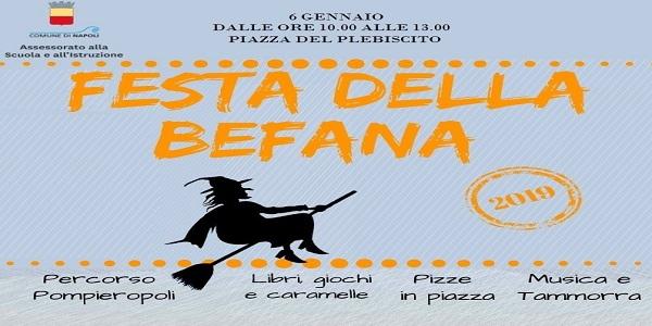 Napoli: il 6 gennaio la festa della Befana in Piazza del Plebiscito