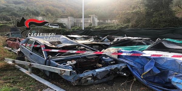 Gragnano: i carabinieri denunciano un 76enne per smaltimento illecito di rifiuti