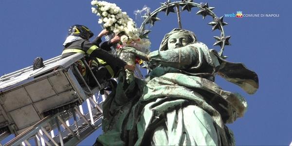 Napoli: si è svolta la festa dell'Immacolata in Piazza del Gesù