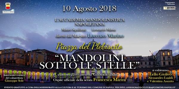 Napoli: 'Mandolini sotto le stelle', concerto nella notte di San Lorenzo