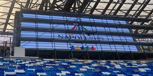 Universiade: due maxi schermi al San Paolo. Rimarrano disponibili anche per le partite del Napoli
