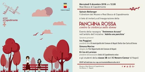 Napoli, Capodimonte: domani la presentazione della Panchina Rossa