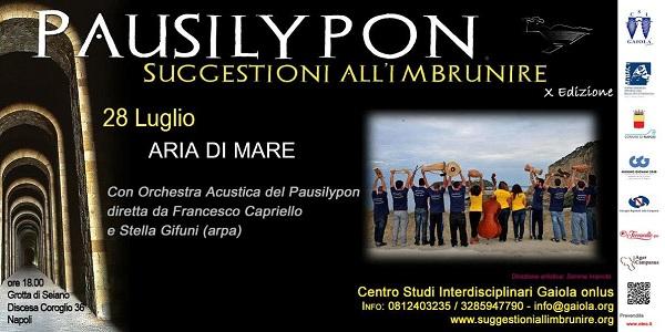 Napoli, ultima Serata al Pausilypon: Aria di mare con l'Orchestra Acustica del Pausilypon