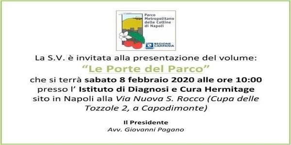 Napoli: domani la presentazione del volume 'Le Porte del Parco'