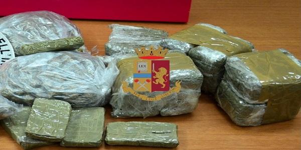 Torre Annunziata: la polizia sequestra oltre 2 kg di droga e arresta un uomo