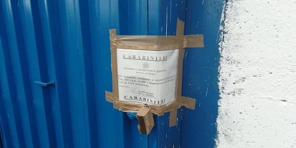 Striano: i carabinieri sequestrano un'azienda.