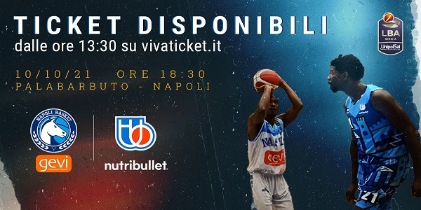 Gevi Napoli Basket - Nutribullett Treviso: al via la vendita dei biglietti