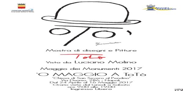 Totò visto da Luciano Molino, lunedì inaugurazione della mostra di disegni e pitture