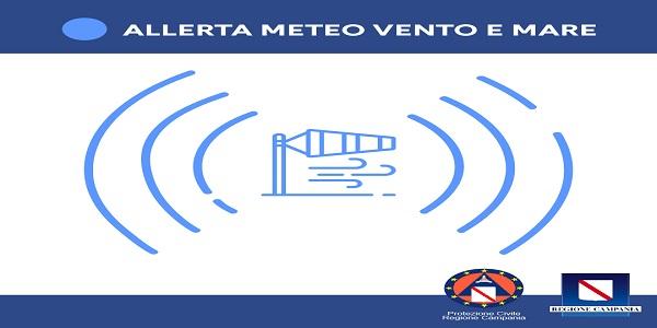 Campania: Allerta meteo per vento molto forte e mare molto agitato dalle 12 di domani