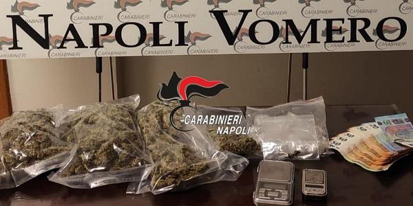 Napoli, Vomero: servizi anti-droga, i Carabinieri arrestano 26enne incensurato
